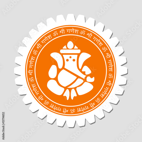 Lord Ganesha Sign Label