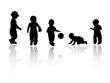 silhouettes - children 2
