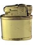 vintage gold gasoline lighter poster