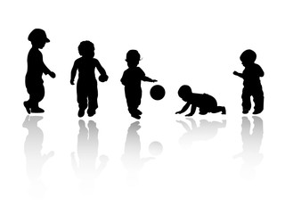 silhouettes - children 2