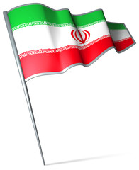 Flag pin - Iran