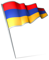 Flag pin - Armenia