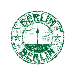 Berlin grunge rubber stamp