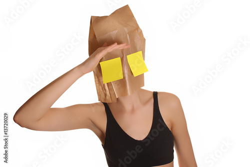 paper bag - looking