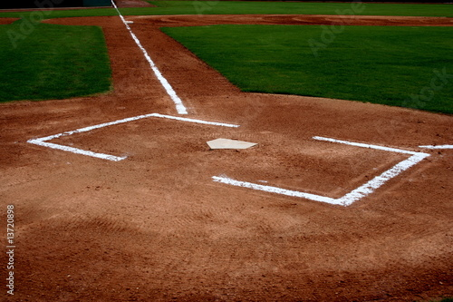 canvas print picture Baseball field