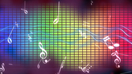 Music Notes Animated Background *loop