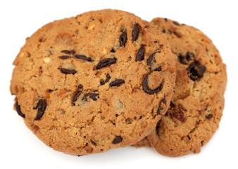 deux cookies aux pépites de chocolat