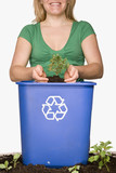 Green Recycling Tree .