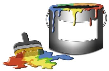 farbeimer mit freistellpfad