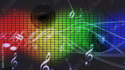 Music abstract background (loop)