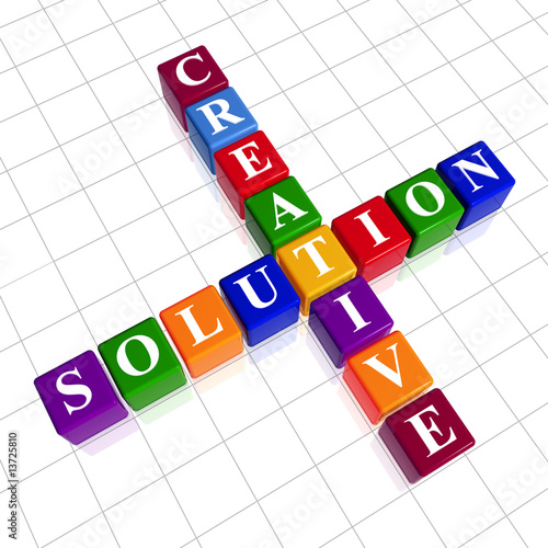 poster of color creative solution like crossword