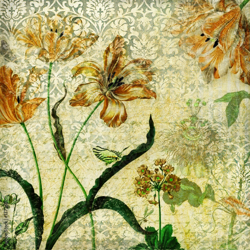 vintage floral wallpaper. vintage floral background