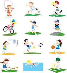 Sporty Cartoon Characters