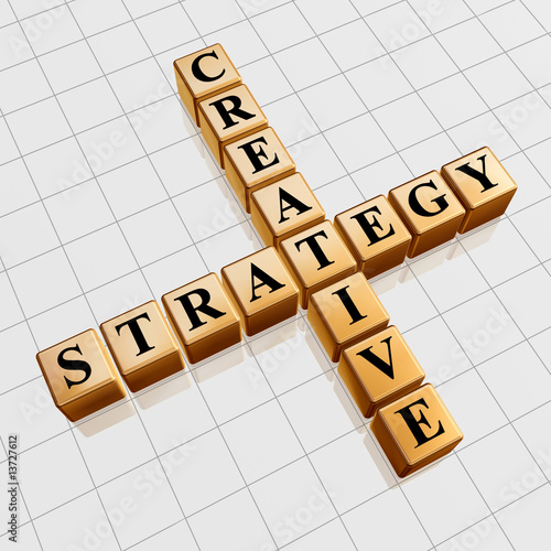 poster of golden creative strategy like crossword