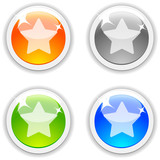 Favorite realistic buttons. Vector illustration. poster