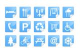 Blue Pictogram Sticker Set poster