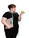 dieting overweight women poster