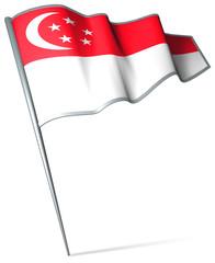 Flag pin - Singapore