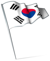 Flag pin - South Korea
