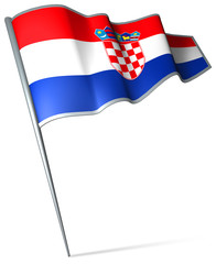 Flag pin - Croatia