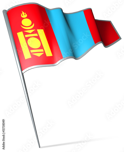 Flag pin - Mongolia