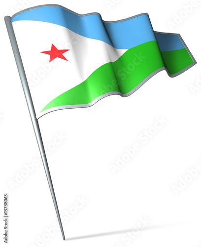 Flag pin - Djibouti