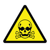 Toxic Hazard Sign poster