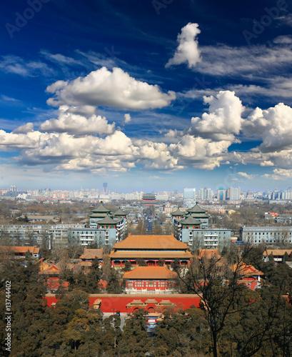 Foto op Aluminium Beijing The aerial view of Beijing City