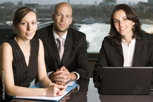 Businessteam of three people