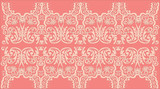 pink curled symmetrical strip poster