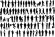 Vector silhouettes of businessmen