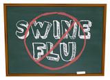 No Swine Flu - Chalkboard poster