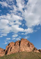 Desert Mountain with Blue Sky