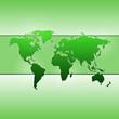 Grüne Weltkarte