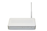 Internet wireless router isolated on white background poster