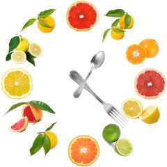 orologio di agrumi