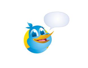 vector blue tweet bird