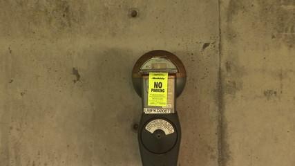 No Parking, Parking Meter