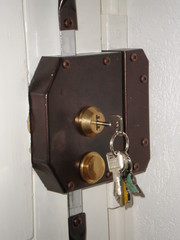 Door with Triple Lock