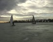 Ice sailing on the Gouwzee in the Netherlands