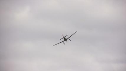 World War II era propeller airplane