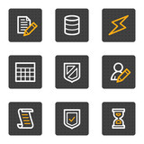 Database web icons, grey buttons series poster