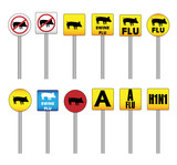 Swine Flu Signs with the new H1N1 Influenza A name poster