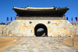Eastern gate in Hwaseong Fortress, Suwon South Korea