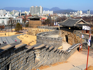Western Gate in Hwaseong Fortress, Suwon, South Korea