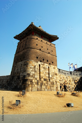 Sentry Building in Hwaseong Fortress, Suwon, South Korea