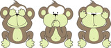 Fototapety three monkeys saying