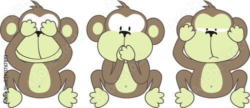 three monkeys saying