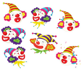 series of funny clowns