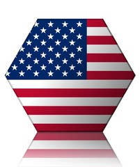 états-unis drapeau hexagone usa flag